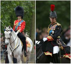 Prince William and Princess Anne on horses