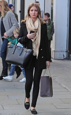 Posh look: Millie Mackintosh looked great as she shopped on the Kings Road, in Chelsea, London on Tuesday