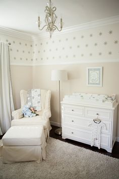 Gender Neutral Starry Night Nursery // Baby Nursery Inspiration