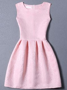 Shop Pink Sleeveless Jacquard A-Line Dress online. SheIn offers Pink Sleeveless Jacquard A-Line Dress & more to fit your fashionable needs. Cute Dresses, Beautiful Dresses, Short Sleeve Dresses, Skater Dresses, Long Sleeve, Short A Line Dress, Prom Dresses With Pockets, Jacquard Dress, Women's Fashion Dresses