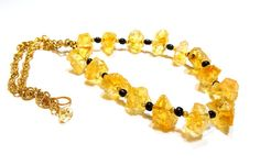 Golden Citrine gemstone necklace accented with by FIPDesigns