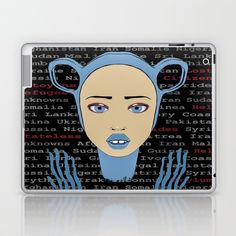 #Skins are thin, easy-to-remove, #vinyl #decals for #customizing your #laptop . Skins are made from a patented material that eliminates air bubbles and wrinkles for easy application. #refugees #humanbeings #citizens of the World #popart #illustration #graffiti #streetart inspired