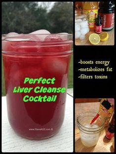 Perfect Liver Cleanse Cocktail with an Energy Boos. - Perfect Liver Cleanse Cocktail with an Energy Booster cranberry juice, 25 drops - Smoothie Detox, Juice Smoothie, Cleanse Detox, Juice Cleanse, Diet Detox, Kidney Cleanse, Detox Foods, Vinegar Cleanse, Detox Cleanses
