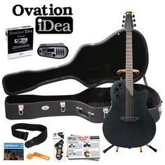 Ovation iDea Elite Acoustic-Electric Guitar with MP3 Recorder and Player New Elite Model 1778TX-5 (Black Finish) The guita... $619.00