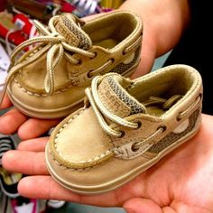 Baby Sperrys! So glad I'm a homebody. If I saw these in the store, there's no way I'd be able to resist buying.