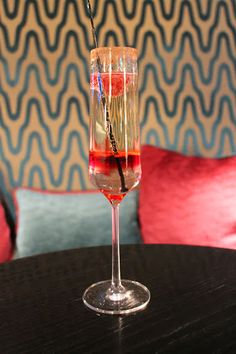 The heavenly Cupido cocktail at Flemings Mayfair! #RosePetals #Raspberry #Champagne #Coco #Love