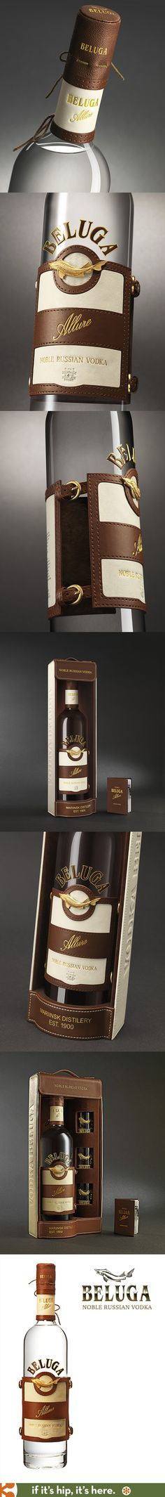 Beluga's Allure Vodka has a leather label and cap with gold buckle accents inspired by the sport of Polo and comes in lovely leather packaged gift sets. spirit mxm