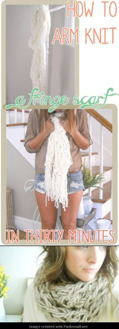 arm knitting (yep, knitting with your arms!) a super bulky scarf - video tutorial - fun kids project