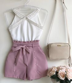 Short Outfits, Trendy Outfits, Summer Outfits, Girl Outfits, Cute Outfits, Fashion Pants, Love Fashion, Fashion Outfits, Womens Fashion