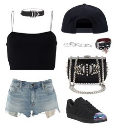 """""""Untitled #282"""" by gr20gk on Polyvore featuring T By Alexander Wang, Denim & Supply by Ralph Lauren, adidas, Alexander Wang, Kendra Scott, Alexander McQueen, Christian Louboutin and Black Scale"""