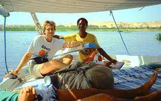 Paseo de Faluca por el Nilo #viaje #Egipto #luna_de-miel #Nilo