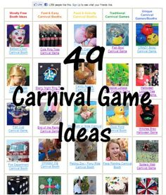 Carnival Game & Booth Ideas -- FREE Online Guide