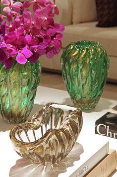 Vasos Tipo Murano assinados por Christina Hamoui