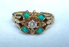 BEAUTIFUL Antique Victorian Turquoise and by magwildwoodscloset