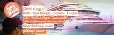 Súper #oferta de #crucero por el #Mediterráneo: 8 días, pensión completa desde 620 euros (tasas incluidas). Itinerario: Turquía, Croacia, islas griegas e Italia. Salida 14 julio