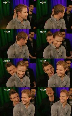 I like how in the fifth one Nick looks so creepy/scary/funny and Brian looks scared/like he's laughing lol