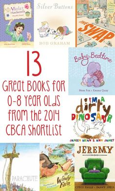 13 fabulous book suggestions for children from birth to eight years selected from the 2014 Children's Book Council of Australia Awards Shortlist.