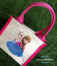 Bolsinha Frozen para lembrança | Design Festeiro