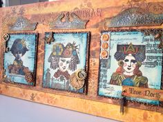 Lynne Perella sketchbook from Sue Carrington workshop at ATP using Paperartsy products. Loved doing this.