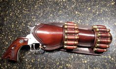Items similar to Leather Gun Holster on Etsy Gun Holster, Leather Holster, Leather Tooling, Custom Leather, Leather Men, Handmade Leather, Western Holsters, Cowboy Action Shooting, Cool Guns