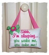 Baby Door Pillow (in the hoop) from GG Designs Embroidery