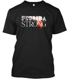 Stay Safe Pray Florida Strong Shirt Black T-Shirt Front