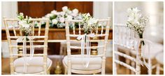 Hedsor House Wedding flowers chairs