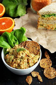 """Lentil + Chickpea Salad Sandwiches {a.k.a. Vegan """"Egg"""" Salad Sandwiches} - ilovevegan.com"""