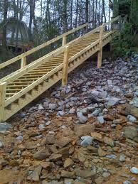 Image result for how to build outdoor stairs to a boat dock