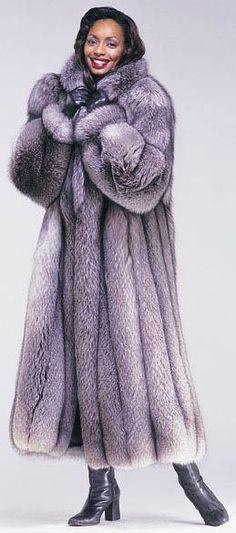 STUNNING Silver Fox Fur Coat!!!!!!!!!
