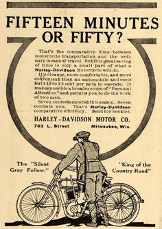 1911 Ad Harley-Davidson Motor Bike Motorcycle Milwaukee Wisconsin Bicycling