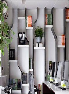 Bookshelf Design 2020 – What is the standard size of a bookshelf? - Home Ideas Shelving Design, Bookshelf Design, Interior Design Boards, Furniture Design, Bibliotheque Design, Regal Design, Partition Design, Home Decor Trends, Office Interiors