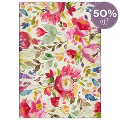 Bright Floral Devon Wool Rug - Flourish - Temple & Webster presents