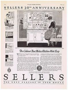 Sellers Kitchen Cabinets Vintage 1921 sellers kitchen cabinets - ooops!american vintage home