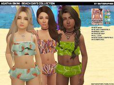 The Sims 4 Agatha Bikini Sims 3, Sims Four, Sims 4 Cas, The Sims 4 Kids, The Sims 4 Bebes, Sims 4 Children, Sims 4 Toddler Clothes, Sims 4 Cc Kids Clothing, Sims 4 Mods Clothes