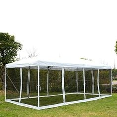 Outsunny x Pop Up Party Tent Gazebo Wedding Canopy with Removable Mesh Sidewalls - Cream White Hot Tub Gazebo, Gazebo Canopy, Patio Gazebo, Canopy Outdoor, Outdoor Decor, Outdoor Rooms, Diy Gazebo, Gazebo Ideas, Canopies