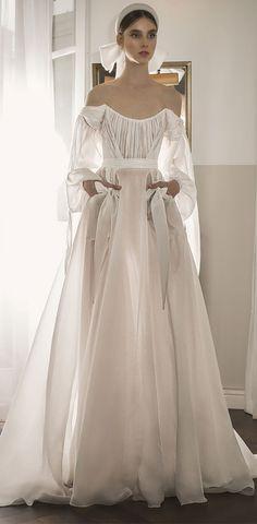 Ronalina 2020 Wedding Dresses : 2020 Bridal Collection Vintage Inspired Wedding Dresses, Designer Wedding Dresses, Vintage Princess, Bride Dresses, Elie Saab, Bridal Collection, Boho Chic, Wedding Inspiration, Gowns