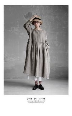 Boho Outfits, Fashion Outfits, Womens Fashion, Linen Dresses, Casual Dresses, Mori Fashion, Minimal Outfit, Kinds Of Clothes, Mode Hijab