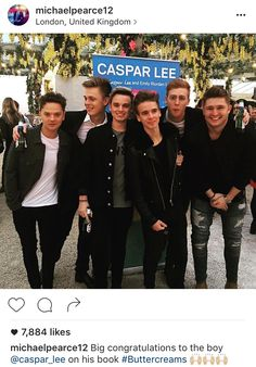 The boys minus Oli at Caspar's book launch party! Great photo except Caspar can… Connor Maynard, Jack And Conor Maynard, Celebrity Dads, Celebrity Weddings, Buttercream Squad, Sugg Life, British Youtubers, Ricky Dillon, Vlog Squad