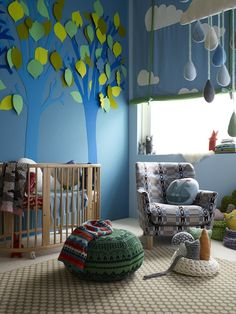 Absolutely adore the tree and mobile - Nursery by Donna Wilson