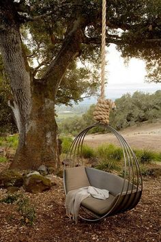 COZY HANGING CHAIR DESIGN IDEAS FOR OUTDOOR