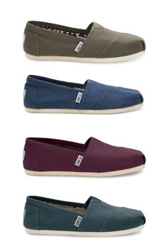 Red Mahogany Canvas Women's Classics. Toms Shoes ...