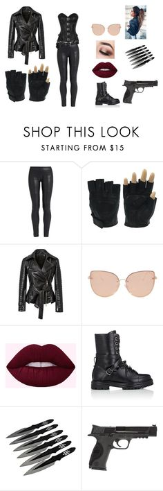 """""""Assassin gear"""" by willow-28 on Polyvore featuring The Row, Topshop, Valentino and Smith & Wesson"""