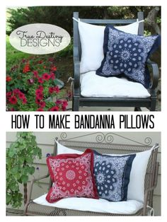 Bandanna Pillows Tutorial