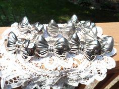 1940s Silver Plate Bow Napkin Rings by Audrey by Andie83 on Etsy,