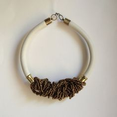 African necklace  african jewelry Leather by havanaflamingo