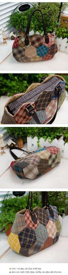 Original bolsa con exagonos