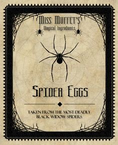 Spider Eggs.  Put this on a Jar filled with the cut-off tips of Q-Tips!