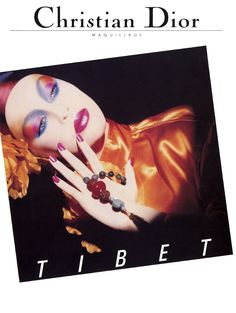 "SUSIE BICK |  CHRISTIAN DIOR  COSMETICS ""TIBET"" CAMPAIGN ADVERTISEMENT PHOTOGRAPHED BY TYEN"