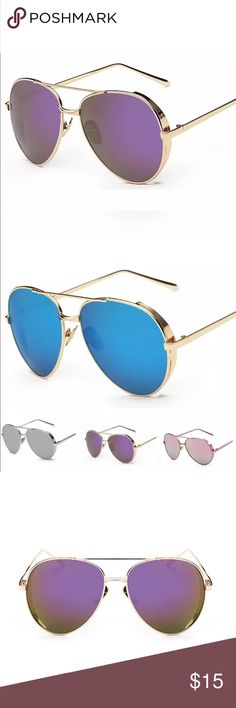 ✨New✨ Oversized Aviator Sunglasses - Gold Frame 😍 ✨New✨ Oversized Aviator Sunglasses - Gold Frame with Purple Mirrored Lens 😍  🔸Brand New✨ 🔸PRICE IS FIRM- already listed at lowest price  🔸If you want to save please look into bundling  🔸In Stock 🔸No Trades 🔸Will ship same day as long as order is received by 1:00pm PST Accessories Sunglasses